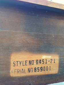 You can figure out when a Lane cedar chest was manufactured by reading the serial number (found on the back or bottom) backwards. This chest was manufactured on 10/09/58